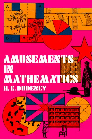 Large book cover: Amusements in Mathematics