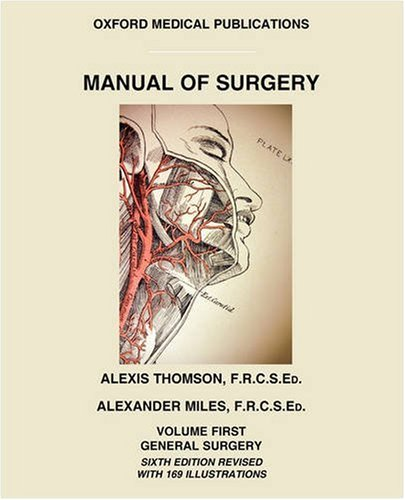 Large book cover: Manual of Surgery, Volume 1: General Surgery