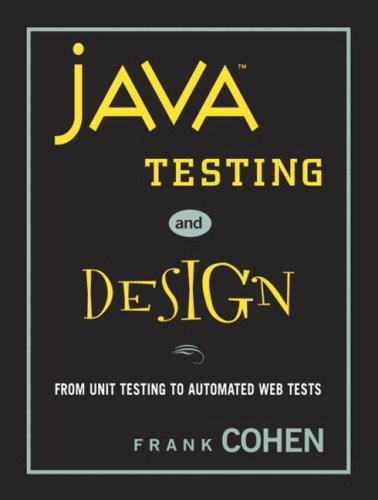 Large book cover: Java Testing and Design