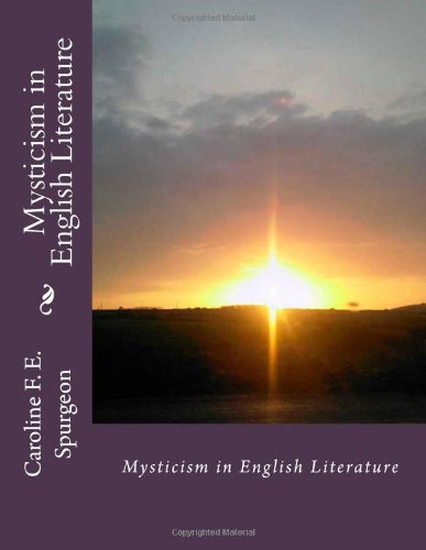 Large book cover: Mysticism in English Literature