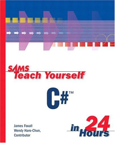 Large book cover: Sams Teach Yourself C# in 24 Hours