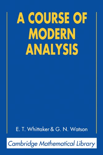 Large book cover: A Course of Modern Analysis