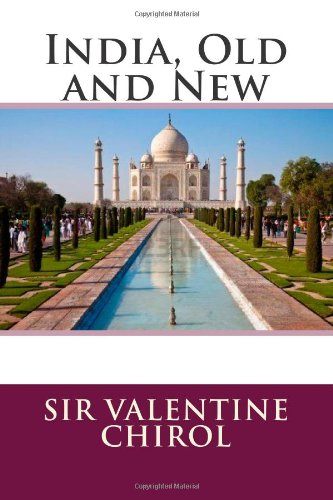Large book cover: India, Old and New