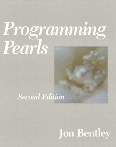 Large book cover: Programming Pearls