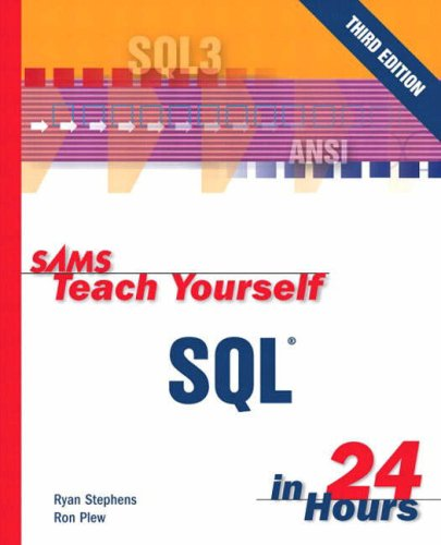 Large book cover: Sams Teach Yourself SQL in 24 Hours