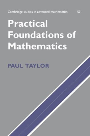 Large book cover: Practical Foundations of Mathematics