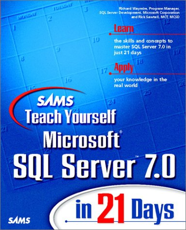 Large book cover: Sams Teach Yourself Microsoft SQL Server 7 in 21 Days