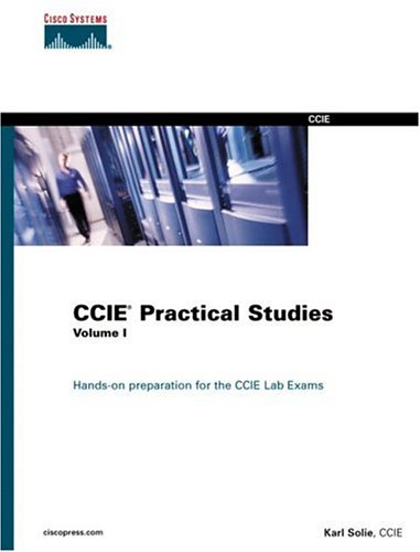 Large book cover: CCIE Practical Studies, Volume I