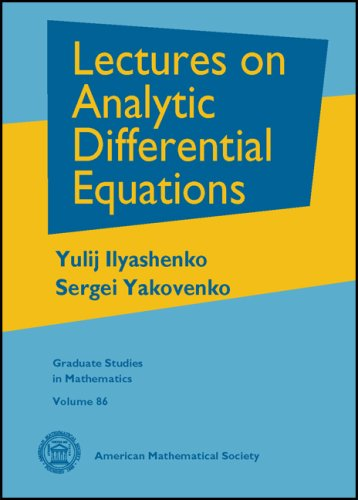 Large book cover: Lectures on Analytic Differential Equations