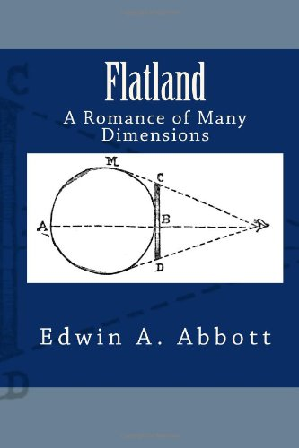 Large book cover: Flatland: A Romance of Many Dimensions