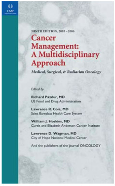 Large book cover: Cancer Management: A Multidisciplinary Approach