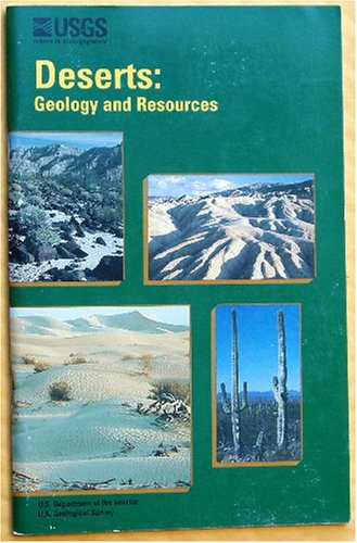 Large book cover: Deserts: Geology and Resources