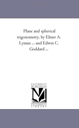 Large book cover: Plane and Spherical Trigonometry