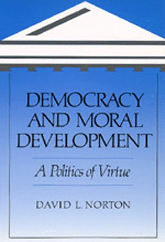 Large book cover: Democracy and Moral Development