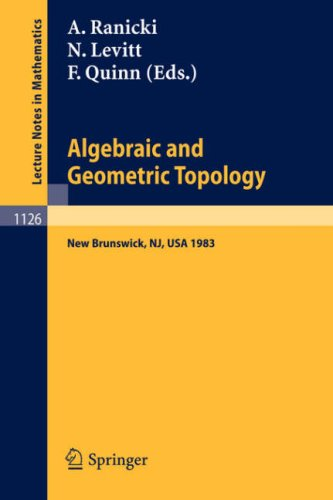 Large book cover: Algebraic and Geometric Topology
