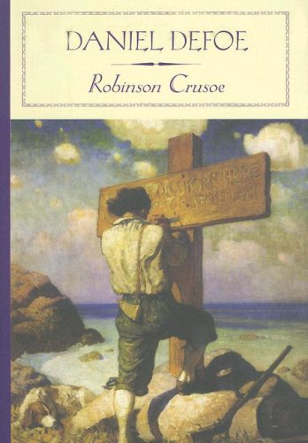 Large book cover: Robinson Crusoe