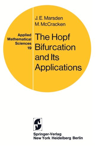 Large book cover: The Hopf Bifurcation and Its Applications