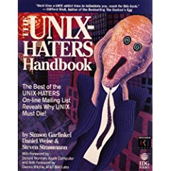 Large book cover: The UNIX-HATERS Handbook