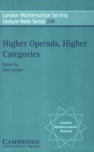 Large book cover: Higher Operads, Higher Categories