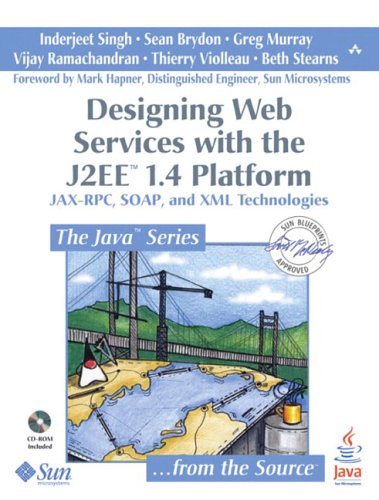 Large book cover: Designing Web Services with the J2EE 1.4 Platform
