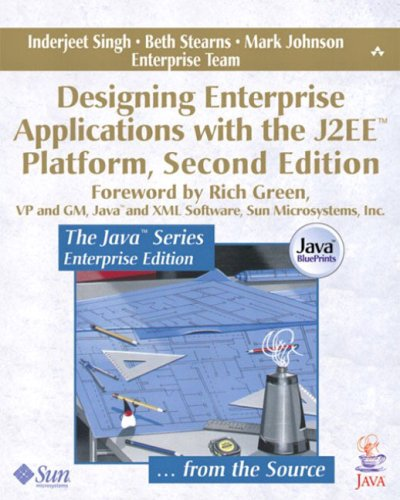Large book cover: Designing Enterprise Applications with the J2EE Platform