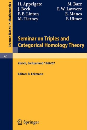 Large book cover: Seminar on Triples and Categorical Homology Theory