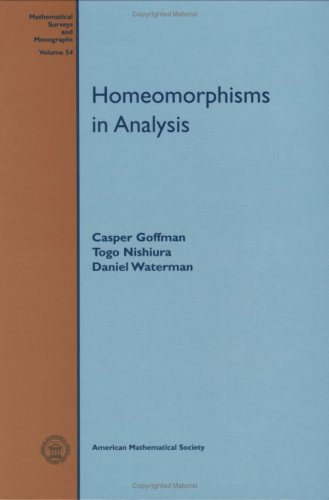 Large book cover: Homeomorphisms in Analysis