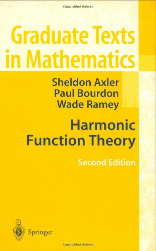 Large book cover: Harmonic Function Theory