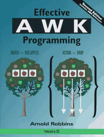 Large book cover: Effective AWK Programming