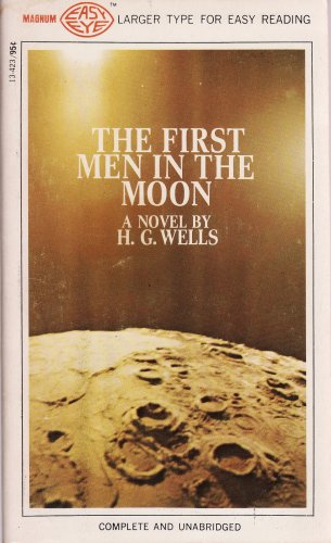 Large book cover: The First Men in the Moon