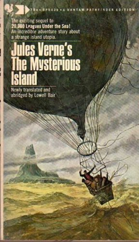 Large book cover: The Mysterious Island