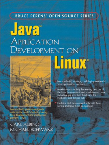 Large book cover: Java Application Development on Linux