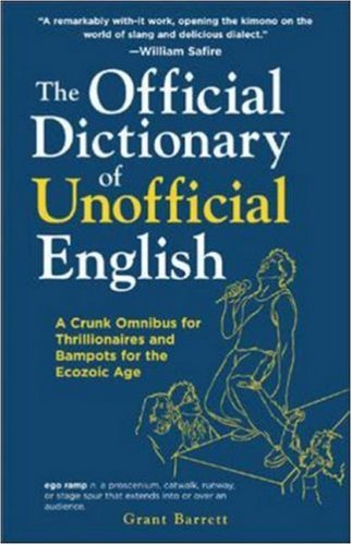 Large book cover: The Official Dictionary of Unofficial English