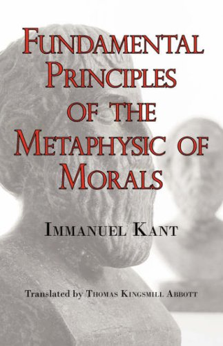 Large book cover: Fundamental Principles of the Metaphysic of Morals