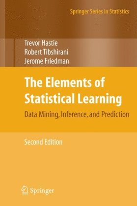 Large book cover: The Elements of Statistical Learning: Data Mining, Inference, and Prediction