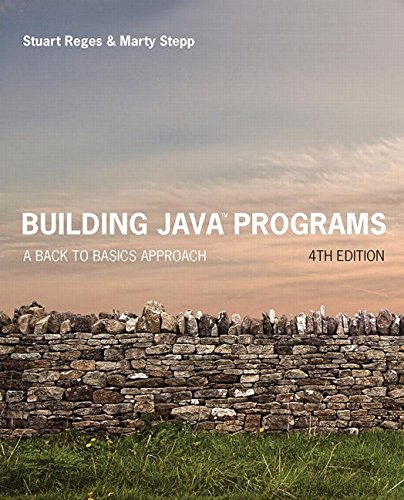 Large book cover: Building Java Programs