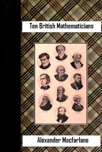 Large book cover: Ten British Mathematicians