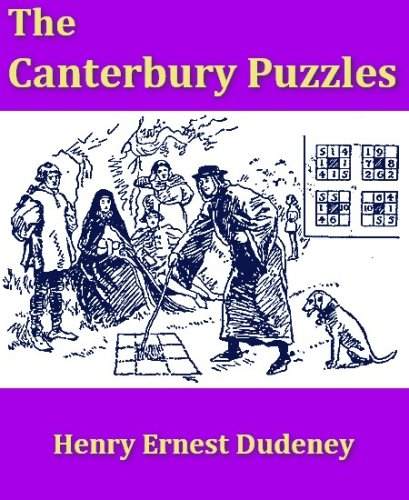 Large book cover: The Canterbury Puzzles and Other Curious Problems