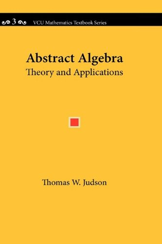 Large book cover: Abstract Algebra: Theory and Applications