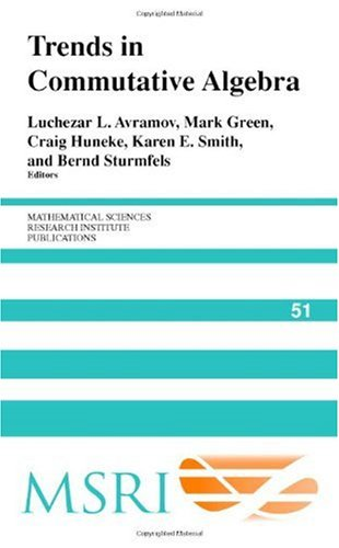 Large book cover: Trends in Commutative Algebra