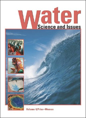 Large book cover: Water Encyclopedia: Science and Issues
