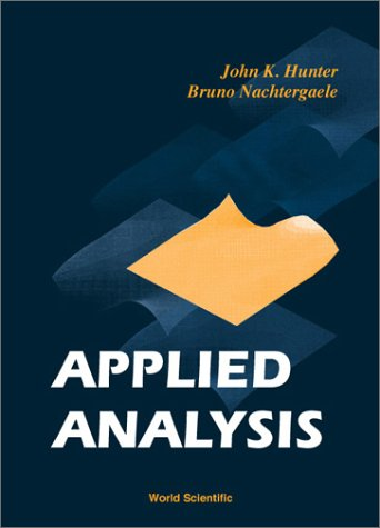 Large book cover: Applied Analysis