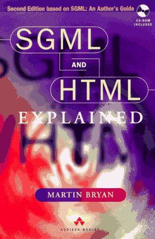 Large book cover: SGML and HTML 4.0 Explained