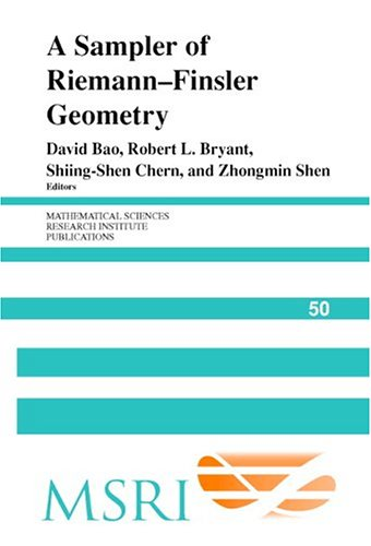 Large book cover: A Sampler of Riemann-Finsler Geometry