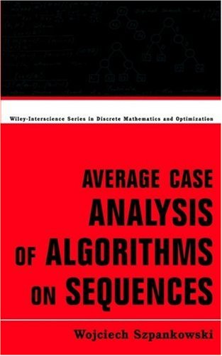 Large book cover: Average Case Analysis of Algorithms on Sequences
