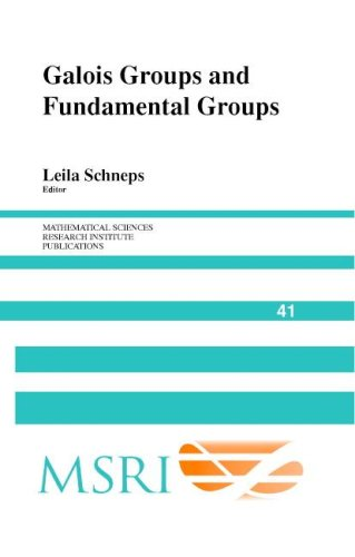 Large book cover: Galois Groups and Fundamental Groups