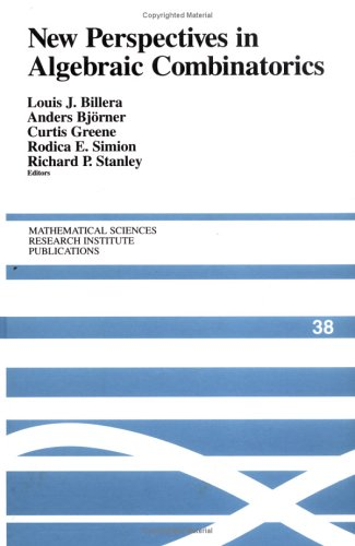 Large book cover: New Perspectives in Algebraic Combinatorics