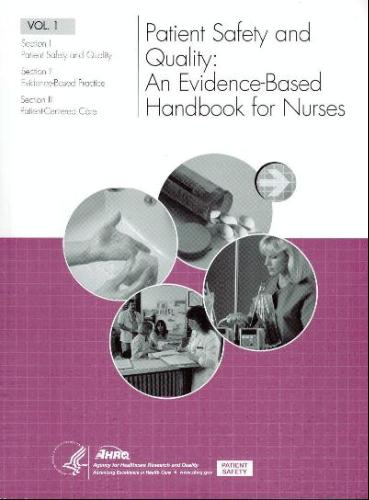 Large book cover: Patient Safety and Quality: An Evidence-Based Handbook for Nurses