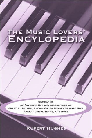 Large book cover: Music Lovers Encyclopedia