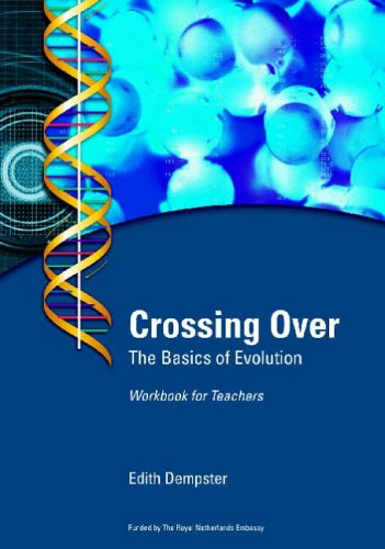 Large book cover: Crossing Over: The Basics of Evolution